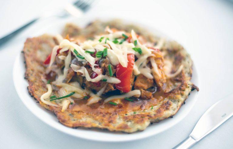Potato pancake chicken