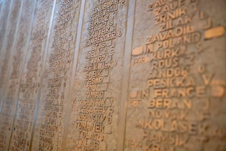 Memorial Board at Czechoslovak National House
