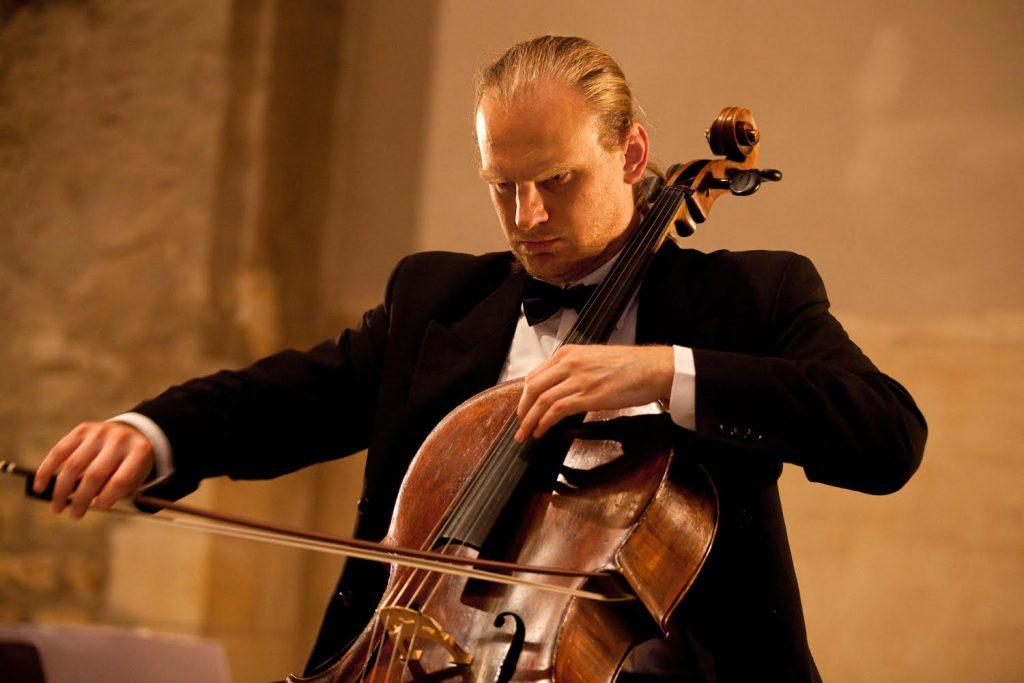 Solo cello player František Brikcius